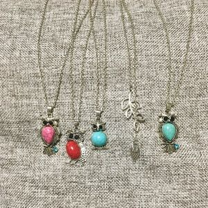 New Owl Necklace Lot
